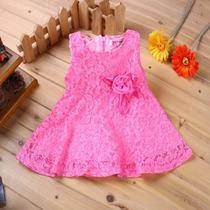 Vestido De Renda Bebê Infantil Aniversário Festa Casamento