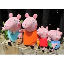 Kit Família Peppa Pig Pelúcia Pronta Entrega