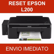 Reset Epson L200 - Almofadas - Vida Útil - Gota