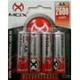Pilha Bateria Recarregável Aa Mox 2600mah Pacote Com 4 Un