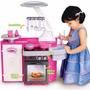 Cozinha Infantil C/ Fogão/ Armario/ Pia Sai Água De Verdade