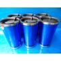 6 Copo Térmico Inox E Acrílico Azul Com Tampa 300 Ml Ref#132