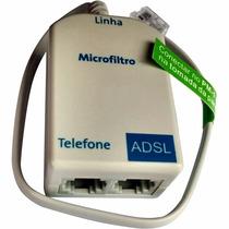 Kit 100 Micro Filtro Adsl Duplo Modem Roteador Telefone