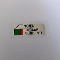 Etiqueta Ajuste Corrente Original Honda Cbx750f 86 7galo