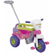 Triciclo Bichos Rosa Haste Som Aro - Magic Toys Frete Grátis