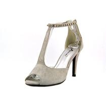 Annie Shoes De Bronze Sandálias Sintéticas W