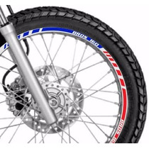 Friso Adesivo Refletivo Roda Tricolor M1 Moto Honda Bros 160