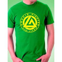 Camiseta Gracie Fighter Jiu Jitsu - Rickson - Mma Muay Luta