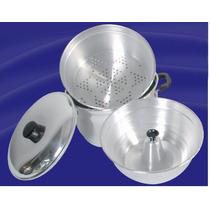 Panela 3 Em 1 Forma Pudim Banho Maria Alumínio