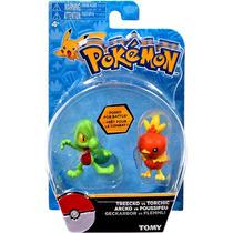 Pokémon X Y Moncollé Treecko + Torchic 5cm - Takara Tomy