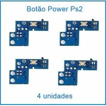 4 Botão Power Ps2 Liga/desliga Placa Reset Play2 90001 90010