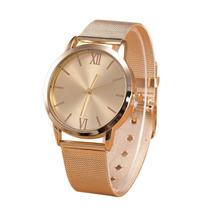 Relógio Malha De Aço Homens E Mulheres Com Caixa Estojo