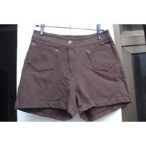 Shorts Em Algodao C/ Elastano Tam Pp