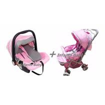 Carrinho P/ Bebê Berço C/ Alça Reversível E Bebe Conforto