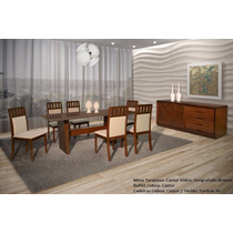 Sala De Jantar Turquesa Completa Madeira Maciça - Mobillare