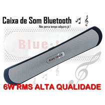 Caixa Som Portátil Bluetooth 6wrms Iphone Ipad Sd Usb Aux