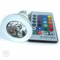 Lâmpada Led 16 Cores 3w Gu10 E27 Cromoterapia + Controle K