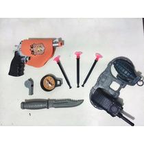 Pistola Revolver Arma Kit Policial Kit Fantasia Policial