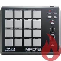 Akai Mpd 18 . Controlador Midi Para Djs . Sampler . Loja !