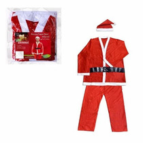 Fantasia Papai Noel Infantil De 9 A 10 Completa P Natal A62