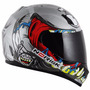 Capacete Norisk Ff391 Creepy Monster Prata - 58