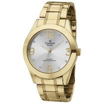 Relógio Champion Feminino Dourado Ch24268h - Original