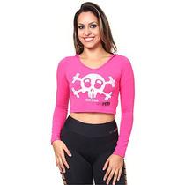 Blusa Cropped Feminina Lara Push Visco - Pink