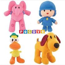 Pocoyo, Kit Com 4 Bonecos, Bandai Importado 15 Cm Original