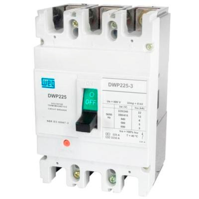 Disjuntor Tripolar Industrial 100a Dwp225 - 100 - 3 22ka / 220v - 1