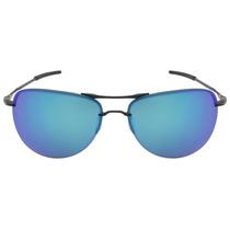 Óculos Oakley Tailpin Satin Black Polarizado - Preto E Azul