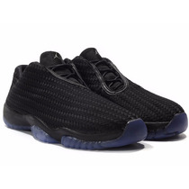 Tênis Nike Air Jordan Future Low Black Blue, Pronta Entrega.