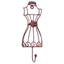 Pendurador Manequim/flor Vermelho - 1 Gancho - Em Ferro