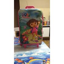 Mochila Cm Rodinhas 3d Dora Aventureira