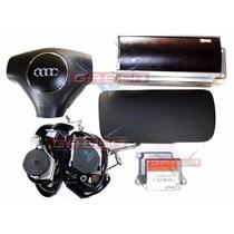 Kit Air Bag Bolsas Cintos Modulo Moldura P Audi A3 01 Á 06