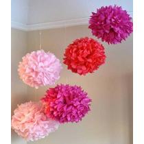 Balão Pompom Papel Seda Decoração, Festas, Eventos 30 Cm