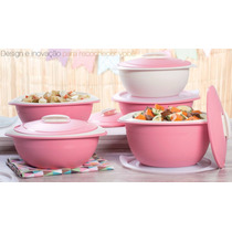 Tupperware Tigela Thermo Rosa Importada 4 Tigelas Tapué