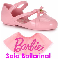 Sapatilha Barbie Ballet Baby Brinde Saia De Bailarina 21471