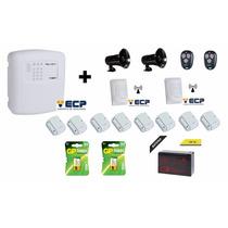 Kit Alarme Ecp Maxcell4 Gsm+sirene Alta Potência+ Acessórios