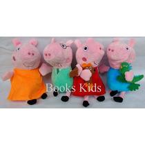 Família Peppa Pig 4 Pelúcias Musicais