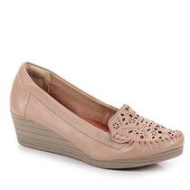 Sapato Anabela Conforto Feminino Ramarim - Nude