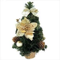 Árvore De Natal Decorada Ouro Mesa 25cm Frete Grátis+brinde