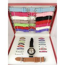 Kit Relógio Feminino Troca Pulseiras 15 Pulseiras/15aros