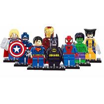 Kit 14 Bonecos Lego Marvel Avengers Tartarugas N Compatível