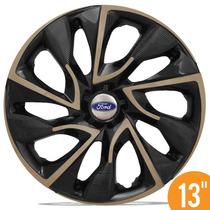 Calota Esportiva Aro 13 Ds4 Gold Preta Ford Ka Fiesta Escort