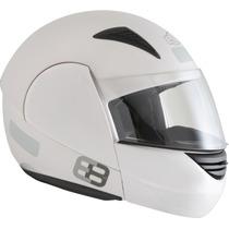 Capacete Marca Ebf Modelo E08 Rocop 56 Branco Articulado