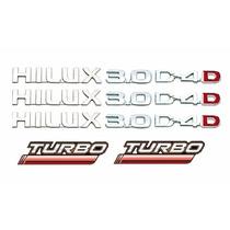 Kit Emblemas Hilux 3.0 D4d Turbo 11 Peças Lateral E Traseiro