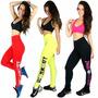 Kit 5 Calça Legging Silk Suplex Feminino Academia Fitness