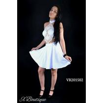 Vestido Branco Frente Renda Guipir