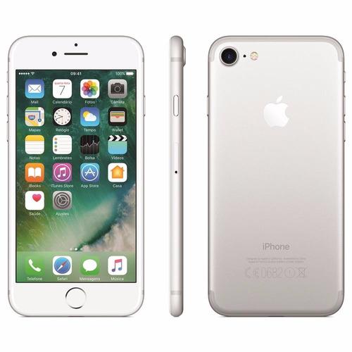 Iphone 7 Apple 32gb, Tela Retina Hd De 4,7 3d Touch Prata