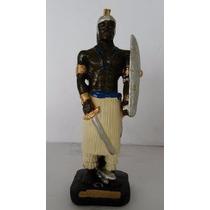 Imagem Ogum Guerreiro Escultura Orixá Do Candomblé Africano